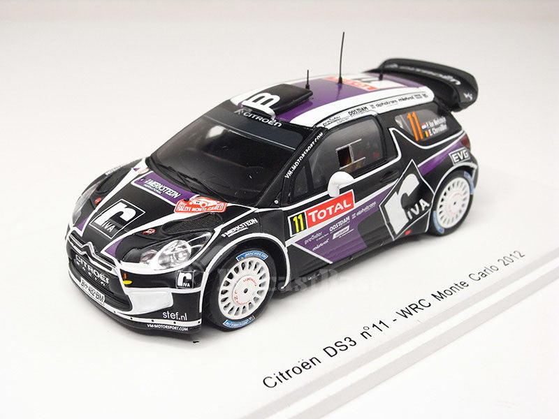Spark S3329 1/43 Citroen DS3 No.11 WRC Monte Carlo Rally 2012 Peter van Merksteijn - Eddy Chevaillier Resin Model Racing Car