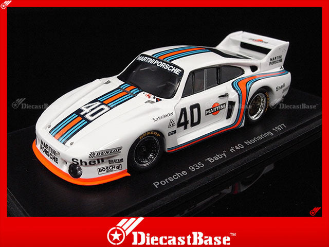 Spark S3406 1/43 Porsche 935 BABY No.40 Norisring 1977 J.Ickx 1:43 Diecast Model Racing Car