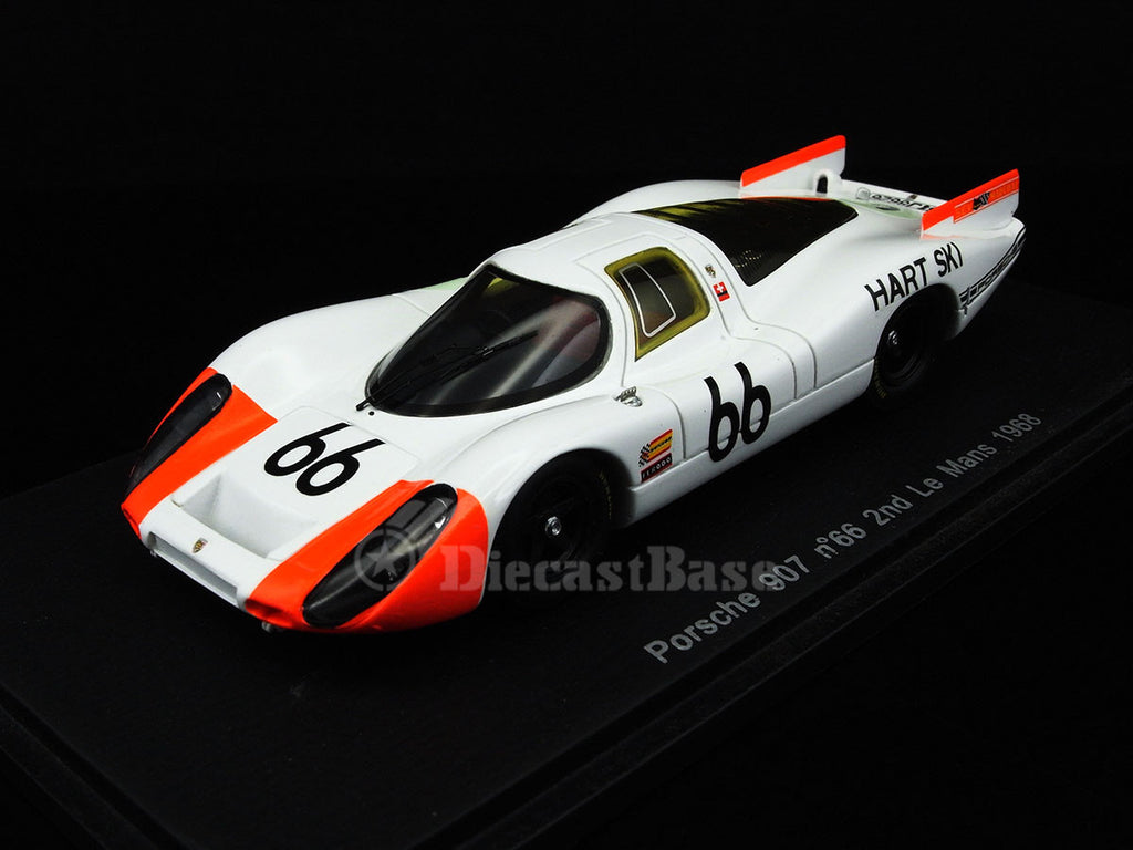 Spark S3480 1/43 Porsche 907 #66 2nd 24 Hours of Le Mans 1968 P 3.0 Class Squadra Tartaruga Team - Rico Steinemann - Dieter Spoerry Resin Model LM Racing Car