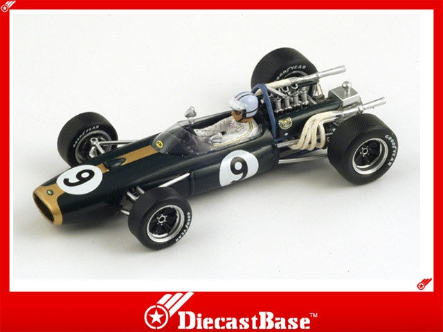 Spark S3502 1/43 Brabham BT20 No.9 Winner Monaco Grand Prix Formula 1 1967 Denny Hulme 1:43 Diecast Model GP F1 Racing Car