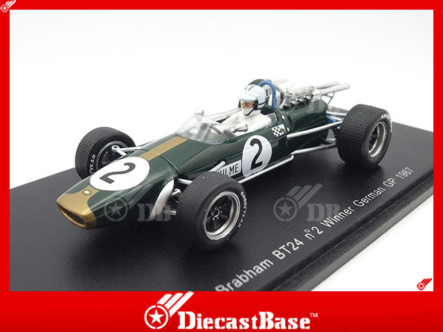 Denny Hulme Scale model car 1:43 Brabham BT24 Repco 1967 Formula 1