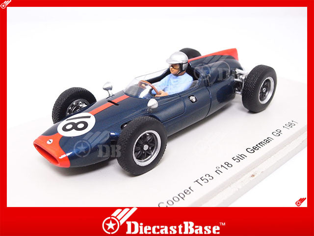 Spark S3515 1/43 Cooper T53 No.18 5th German Grand Prix 1961 Cooper-Climax Team John Surtees Spark Model Resin Model F1 GP Racing Car
