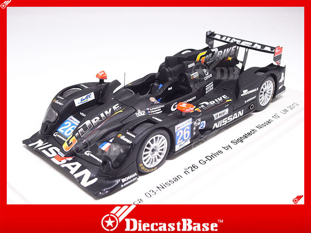 Spark S3712 1/43 Oreca 03-Nissan No.26 24 Hours of Le Mans 2012 LMP2 Class Signatech-Nissan Team Nelson Panciatici - Pierre Ragues - Roman Rusinov Spark Model Resin Model LM Racing Car
