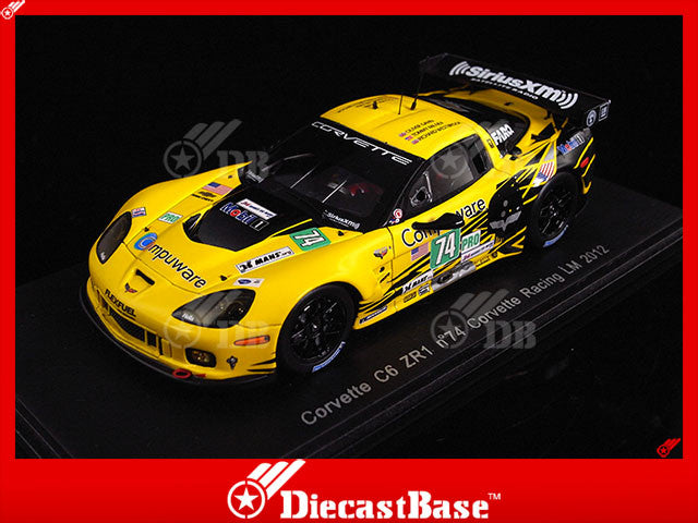 Spark S3729 1/43 Chevrolet Corvette C6.R No.74 24 Hours of Le Mans 2012 LMGTE Pro Class Corvette Racing Team Oliver Gavin - Richard Westbrook - Tommy Milner Resin Model LM Racing Car