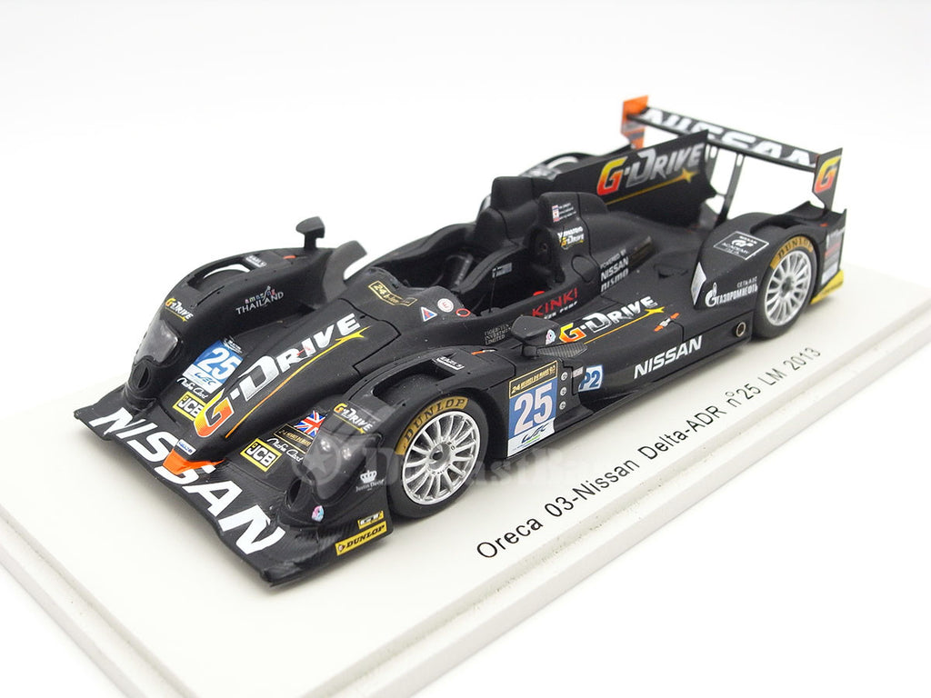 Spark S3747 1/43 Oreca 03 No.25 24 Hours of Le Mans 2013 LMP2 Class Delta-ADR Team Tor Graves - Archie Hamilton - Shinji Nakano Spark Model Resin LM Racing Car