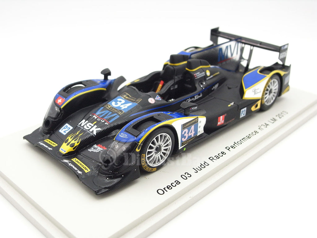Spark S3754 1/43 Oreca 03 Judd No.34 24 Hours of Le Mans 2013 LMP2 Class Race Performance Team Michel Frey - Patric Niederhauser - Jeroen Bleekemolen Resin Models LM Racing Car