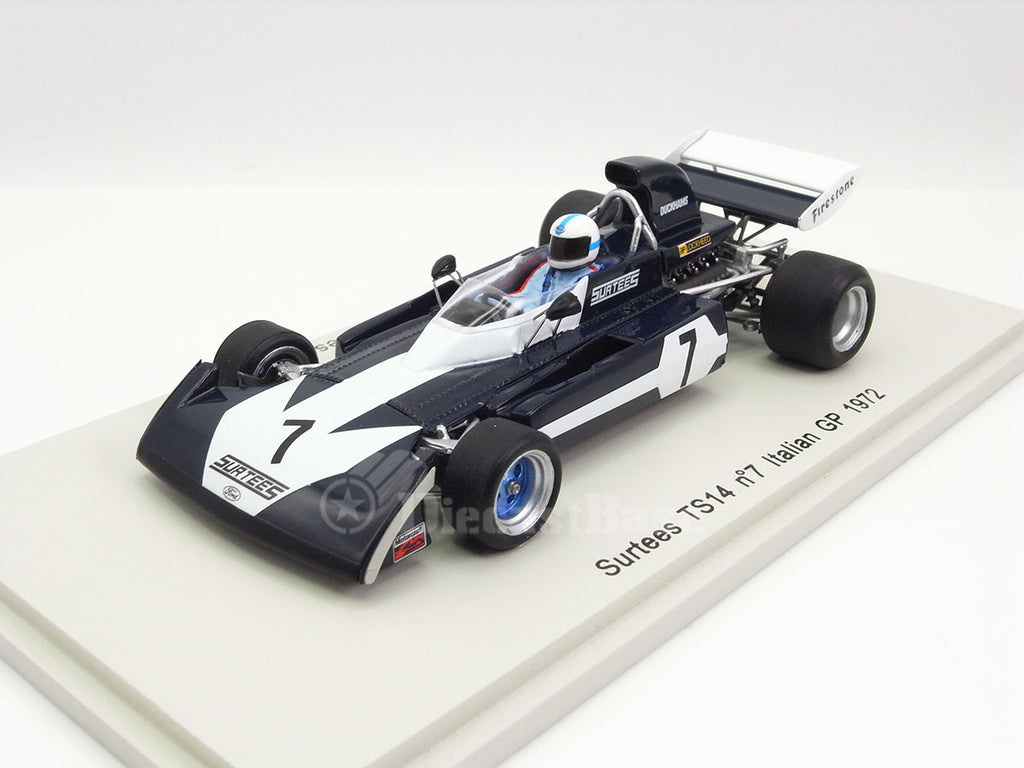 Spark S4000 1/43 Surtees TS14 #7 Italian Grand Prix 1972 Surtees Team John Surtees Resin Model F1 GP Racing Car Formula One