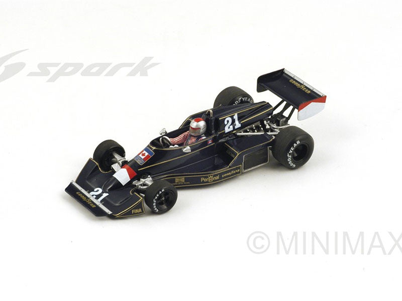 Spark S4044 1/43 Williams FW05 #21 Race of Champions 1976 Mario Andretti Resin Models F1 GP Racing Car