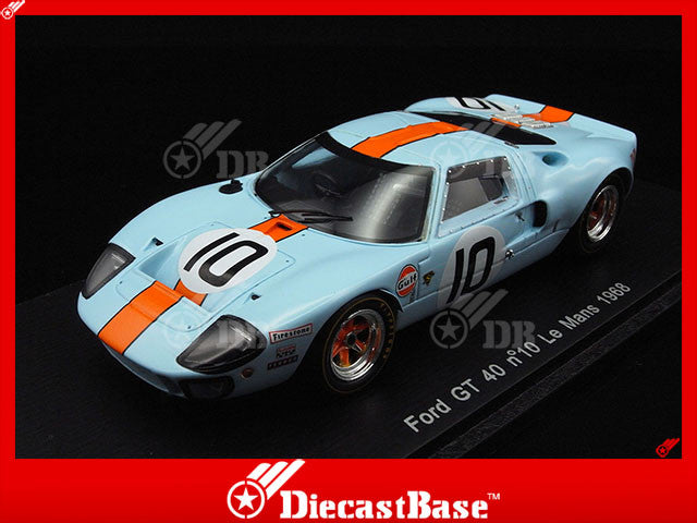 Spark S4069 1/43 Ford GT 40 #10 John Wyer Automotive Team Le Mans 1968 Paul Hawkins - David Hobbs Spark Models Diecast Model LM Racing Car