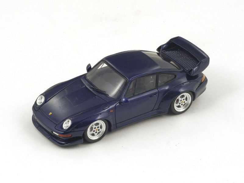 Spark S4197 1/43 Porsche 993 GT Blue Resin Model Road Car