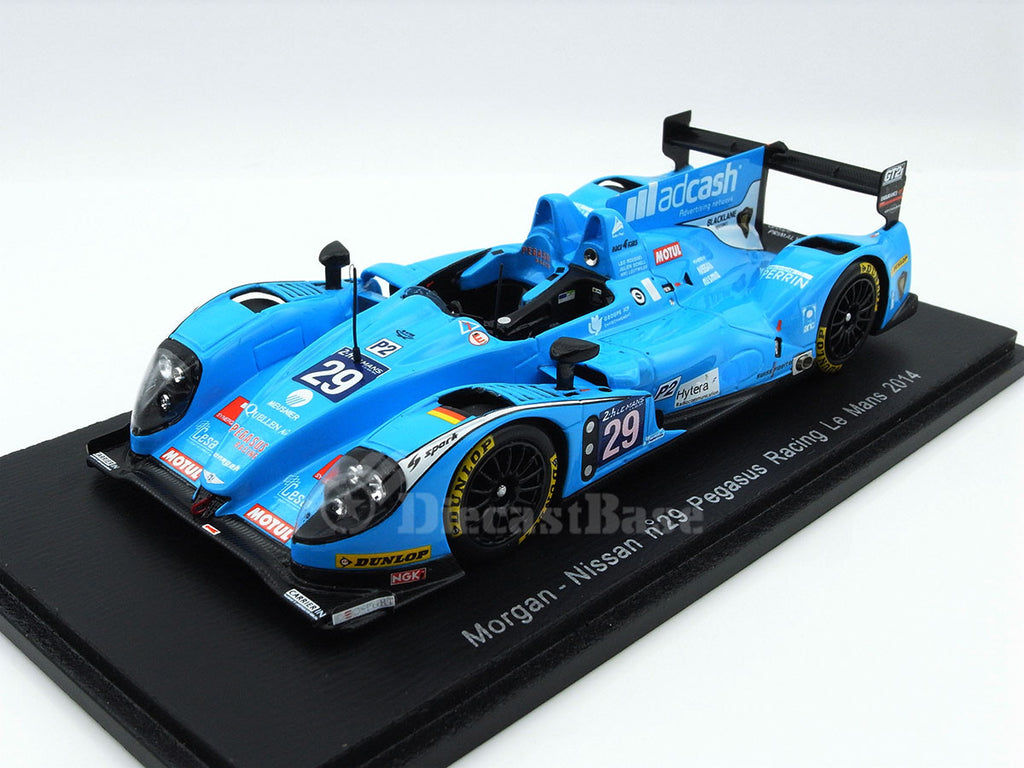 Spark S4213 1/43 Morgan LMP2 Nissan #29 18th 24 Hours of Le Mans 2014 LMP2 Class Pegasus Racing Team - Julien Schell - Leo Roussel - Nicolas Leutwiler Resin Model LM Racing Car