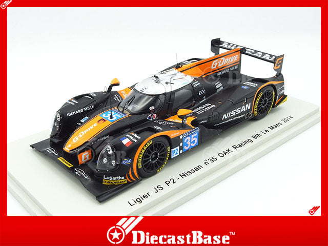 Spark S4216 1/43 Ligier JS P2 - Nissan #35 9th Le Mans 5th LMP2 2014 OAK Racing - Alex Brundle - Jann Mardenborough - Mark Shulzhitskiy Resin Model LM Racing Car