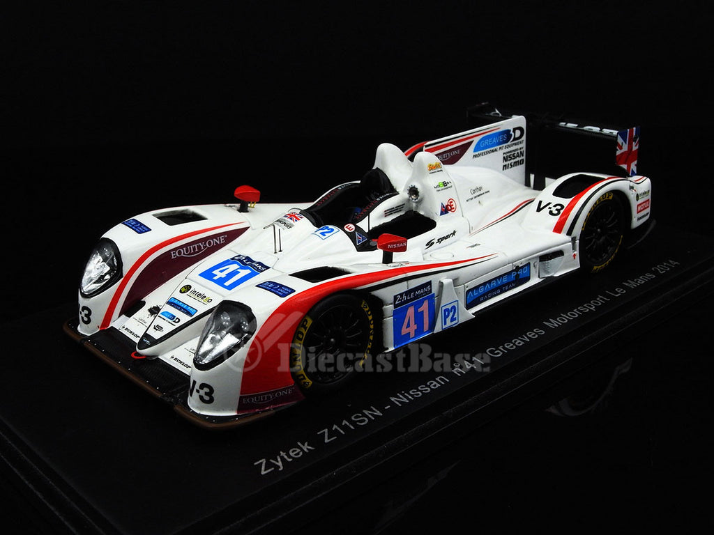 Spark S4220 1/43 Zytek Z11SN Nissan #41 24 Hours of Le Mans 2014 LMP2 Class Greaves Motorsport Team Michael Munemann - Alessandro Latif - James Winslow Resin Models LM Racing Car