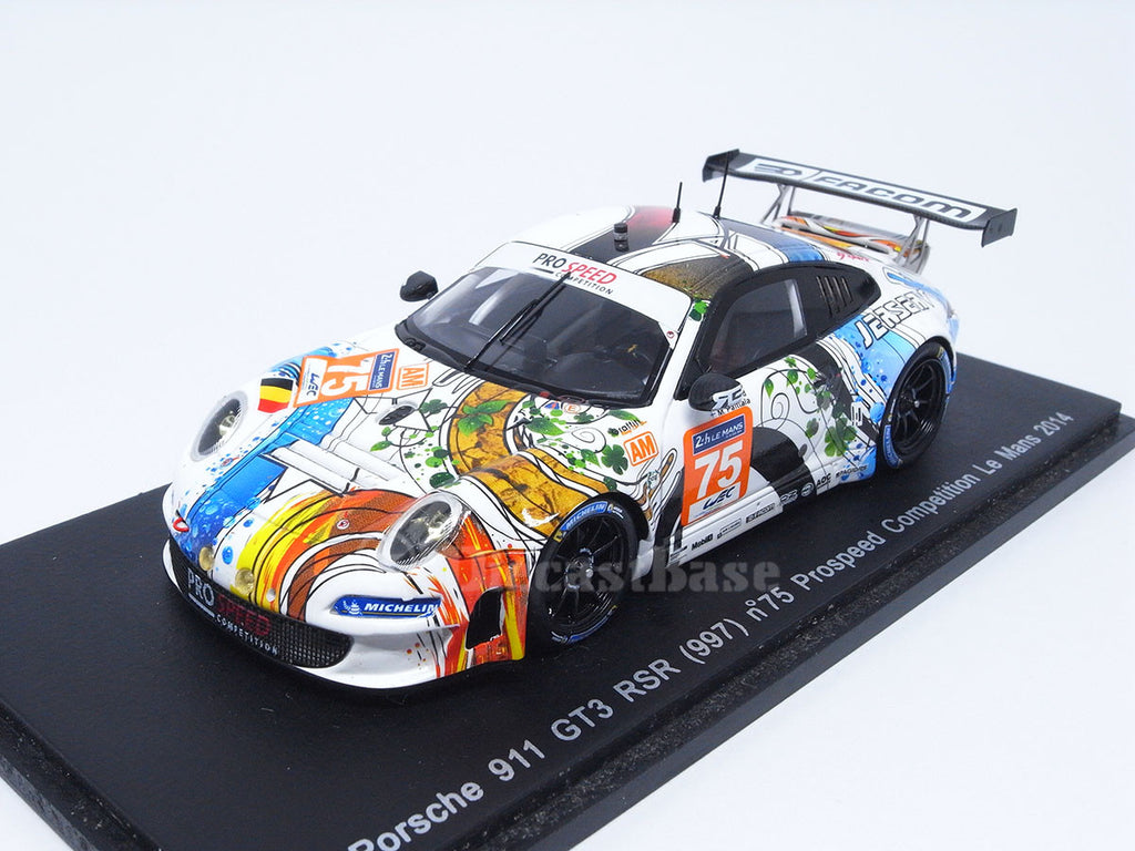 Spark S4233 1/43 Porsche 911 GT3 RSR #75 24 Hours of Le Mans 2014 LMGTE Am Class Prospeed Competition Team - François Perrodo - Emmanuel Collard - Markus Palttala Resin Model LM Racing Car