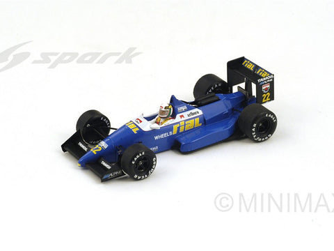 Spark S4311 1/43 Rial ARC1 #22 19th Belgian Grand Prix 1988 Rial Racing - Andresa De Cesaris Resin Model Racing Car