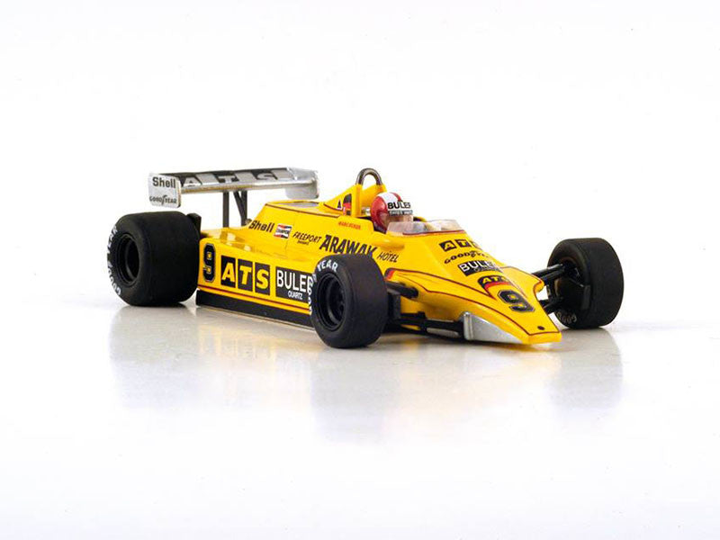 Spark S4365 1/43 ATS D4 No.9 French Grand Prix 1980 ATS-Ford Team Marc Surer Resin Model F1 GP Racing Car