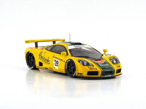 Spark S4404 1/43 McLaren F1 GTR No.69 6th 24 Hours of Le Mans 1996 GT1 Class Harrods Mach One Racing Team/David Price Racing Team Andy Wallace - Olivier Grouillard - Derek Bell LM Resin Models Racing Car
