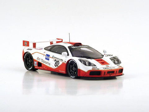 Spark S4405 1/43 McLaren F1 GTR #30 4th Le Mans 3rd GT1 1996 West Competition - David Price Racing - John Nielsen - Dr. Thomas Bscher - Peter Kox Resin Model Racing Car