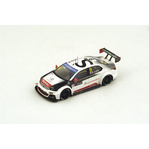 Spark S4521 1/43 Citroen C-Elysee WTCC #9 FIA WTCC Race of Argentina Winner Race 2 2015 Citroen Total WTCC - Sébastien Loeb Resin Model Racing Car