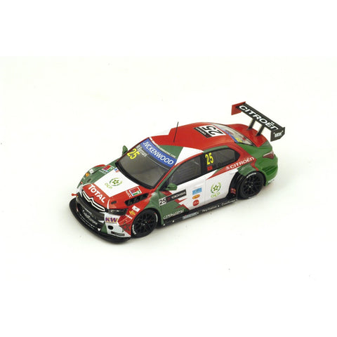 Spark S4522 1/43 Citroen C-Elysee WTCC #25 FIA WTCC Race of Marocco 4th Race 1 2015 Sébastien Loeb Racing - Mehdi Bennani Resin Model Racing Car