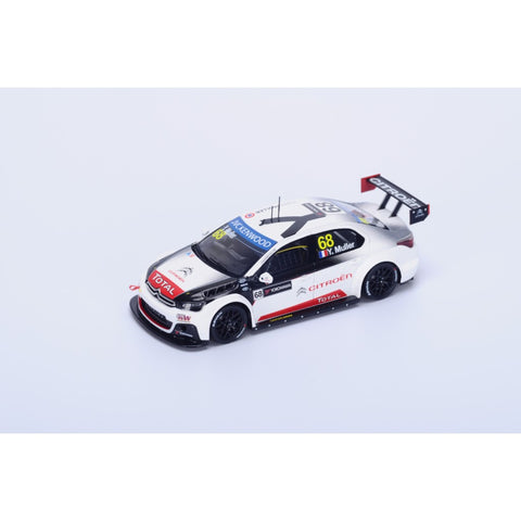 Spark S4525 1/43 Citroen C-Elysee WTCC #68 FIA WTCC Race of Marocco Winner Race 2 2015 Citroen Total WTCC - Yvan Muller Resin Model Racing Car