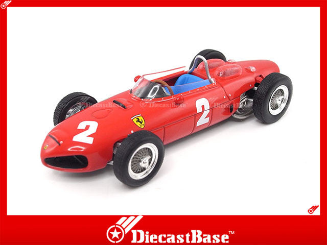 IXO SF2561 1/43 Ferrari 156 F1 No.2 Winner Italian Grand Prix 1961 Ferrari Team Phil Hill IXO Models Diecast Model Formula One Racing Car