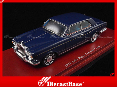 TSM TSM114316 1/43 Rolls Royce Corniche Coupe 1972 Navy Blue TrueScale Miniatures Model Resin Road Car