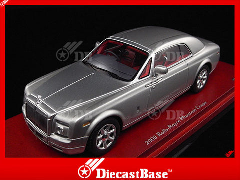 TSM TSM114322 1/43 Rolls-Royce Phantom Coupe 2009 Silver TrueScale Miniatures Resin Model Road Car