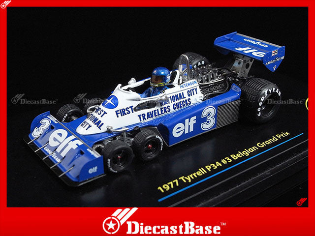 TSM TSM114352 1/43 Tyrrell P34 No.3 Belgian GP 1977 Ronnie Peterson Superswede 1:43 TrueScale Miniatures Model Diecast Model Racing Car