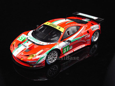 Fujimi TSM11FJ018 1/43 Ferrari 458 Italia GT2 No.51 24 Hours of Le Mans 2011 LMGTE Pro Class AF Corse SRL Team Giancarlo Fisichella - Gianmaria Bruni - Toni Vilander TSM Model Resin LM Racing Car