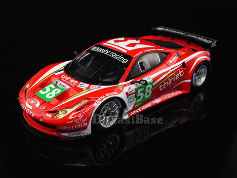 Fujimi TSM11FJ019 1/43 Ferrari 458 Italia GT2 No.58 24 Hours of Le Mans 2011 LMGTE Pro Class Luxury Racing Team Anthony Beltoise - François Jakubowski - Pierre Thiriet TSM Model LM Racing Car