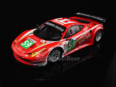 Fujimi TSM11FJ020 1/43 Ferrari 458 Italia GT2 No.59 24 Hours of Le Mans 2011 LMGTE Pro Class Luxury Racing Team Stéphane Ortelli - Frédéric Makowiecki - Jaime Melo TSM Model LM Racing Car Resin