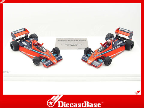 TSM TSM124305 1/43 Alfa Brabham BT46 Italian Grand Prix 1978 1-2 Finish Brabham-Alfa Romeo Team Twin Cars Niki Lauda John Watson TrueScale Miniatures Resin Model Racing Car Formula One
