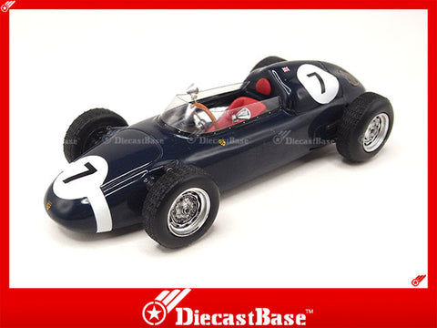 TSM TSM124355 1/43 Porsche 718 F2 R.R.C. Walker Racing Team No.7 Formula 2 Championship 1960 Stirling Moss TrueScale Miniatures Model Resin Racing Car