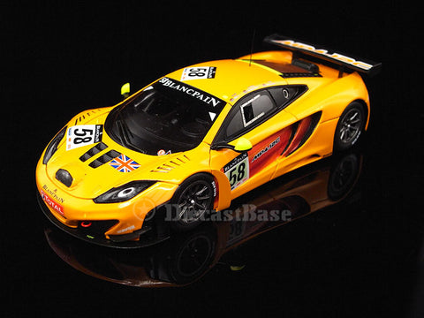TSM TSM124374 1/43 McLaren MP4-12C GT3 #58 2011 Total 24 Hours of Spa McLaren GT R.Bell - C.Goodwin - T.Mullen TrueScale Miniatures Resin Model Racing Car