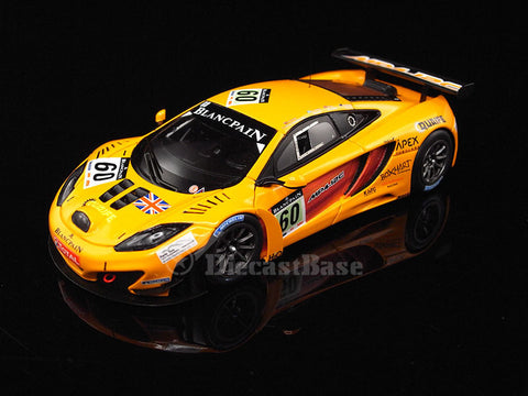 TSM TSM124375 1/43 McLaren MP4-12C GT3 #60 2011 Total 24 Hours of Spa McLaren GT A.Christodolou - G.Geddie - P.Quaife - R.Wills TrueScale Miniatures Resin Model Racing Car