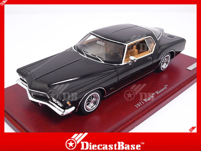 TSM TSM134308 1/43 Buick Riviera 1971 Black TrueScale Miniatures Resin Model Road Car