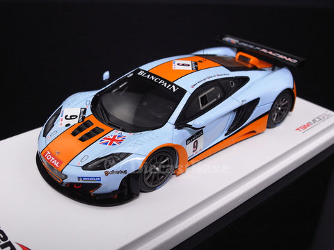 TSM TSM134331 1/43 McLaren MP4-12C GT3 No.9 Total 24 Hours of Spa GT 2012 Gulf Racing Mike Wainwright - Rob Bell - Andy Meyrick TrueScale Miniatures Resin Model Racing Car