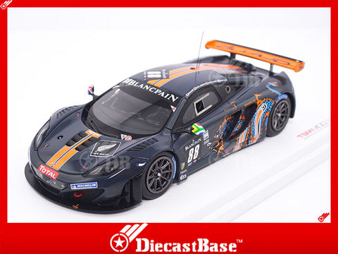 TSM TSM134332 1/43 McLaren MP4-12C GT3 No.88 Total 24 Hours of Spa 2012 Von Ryan Racing Rob Barff - Chris Goodwin - Alvaro Parente - Roger Wills TrueScale Miniatures Resin Model Racing Car