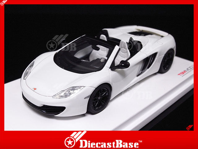 TSM TSM134335 1/43 McLaren MP4-12C Spider 2013 LHD White TrueScale Miniatures Resin Model Road Car