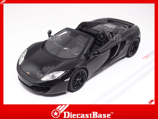 TSM TSM134336 1/43 McLaren MP4-12C Spider 2013 LHD Carbon Black TrueScale Miniatures Resin Model Road Car
