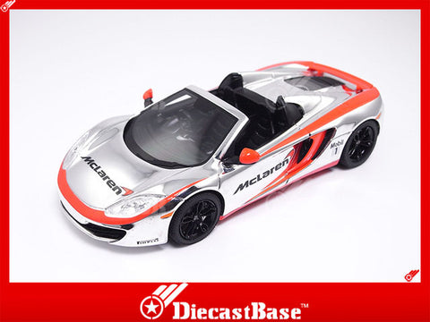 TSM TSM13OEM14 1/43 McLaren MP4-12C Spider 2013 Chrome Silver TrueScale Miniatures Resin Model Road Car