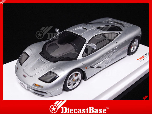 TSM TSM13SS1 1/43 McLaren F1 1995 High Mirror and Signed by Ron Dennis Limited 120 Pieces Silver TrueScale Miniatures Model Road Car