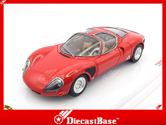 TSM TSM144309 1/43 Alfa Romeo 33 Stradale 1968 Late Version TrueScale Miniatures Diecast Model Road Car