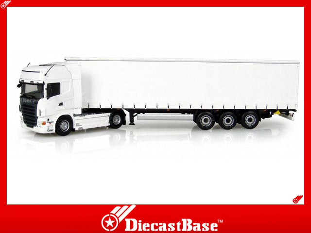 Universal Hobbies UH5710 1/50 Scania R730 with Trailer White UH Diecast Model Truck