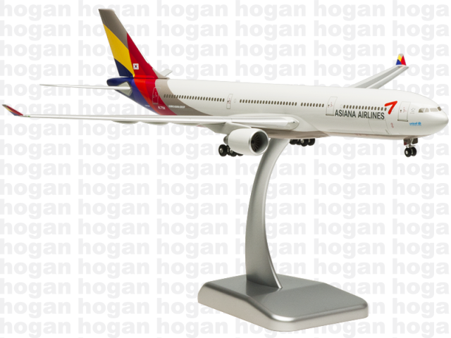 Hogan Wings 4999 1/200 Asiana Airlines OZ AAR AIRBUS A330-300 Unicef Plastic Snap-Fit Model Commercial Aircraft Civil Aviation