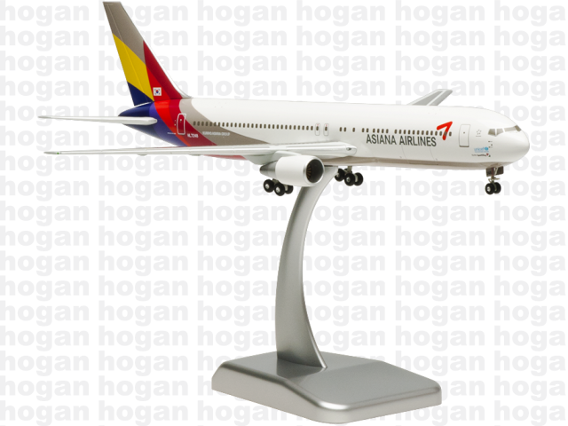 Hogan Wings 4517 1/200 Asiana Airlines OZ AAR BOEING 767-300 Unicef Plastic Snap-Fit Model Commercial Aircraft Civil Aviation