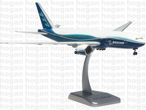 Hogan Wings 3732 1/200 BOEING 777-200LR House Colors Plastic Snap-Fit Model Commercial Aircraft Civil Aviation