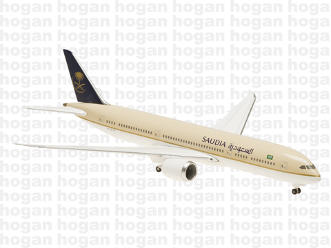 Hogan Wings 5156 1/400 Saudi Arabian Airlines SV SVA SAUDIA BOEING 787-9 (Ground Configuration) Diecast Model Commercial Aircraft Civil Aviation