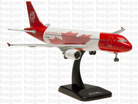 Hogan Wings 0618 1/200 Air Canada AC ACA AIRBUS A320 65 Years Anniversary 1937 - 2002 Plastic Snap-Fit Model Commercial Aircraft Civil Aviation